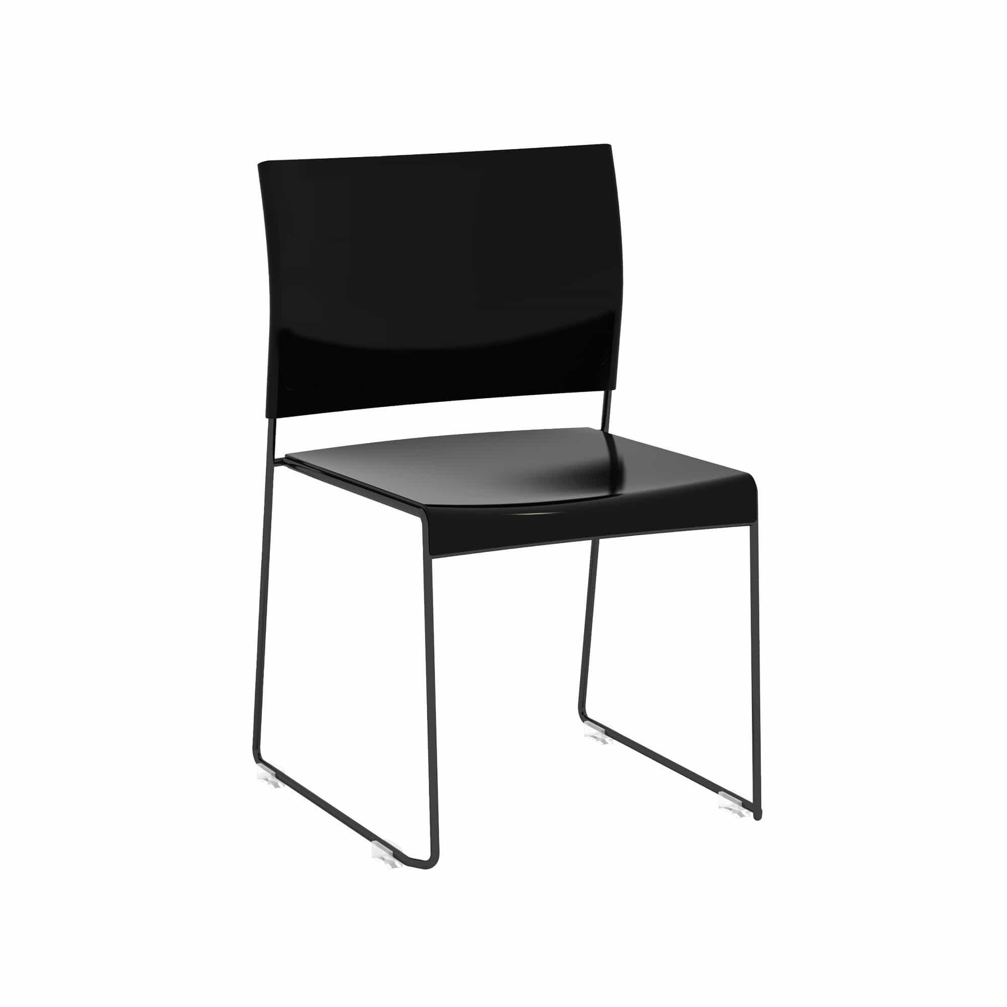 bedinhome - 4271BB Currant™ All-steel, High Density Black Seat / Black Frame 250 lbs Capacity Plastic Furniture Guest Stack Chair (Qty. 4) - Safco - Guest Stack Chair