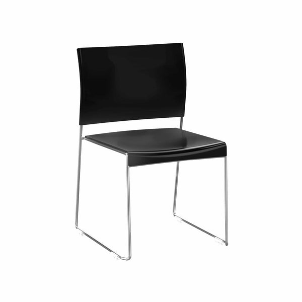 black-seat-chrome-frame