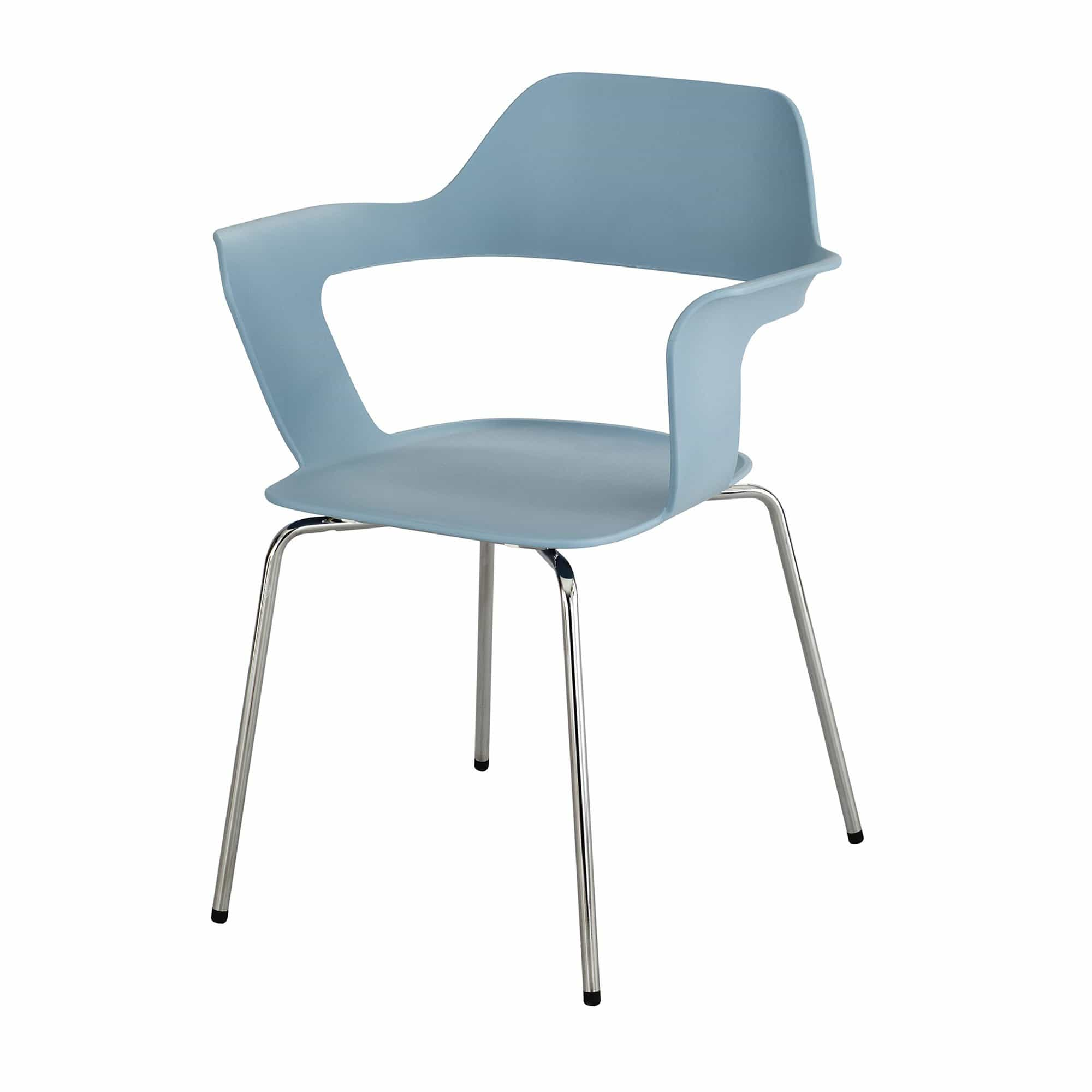 bedinhome - 4275BU Bandi™ Conference Room Uniquely Shaped Open Seat Back Shell Traditional Blue Stack Chair With Flared Arms (Qty. 2) - Safco - Shell Stack Chair