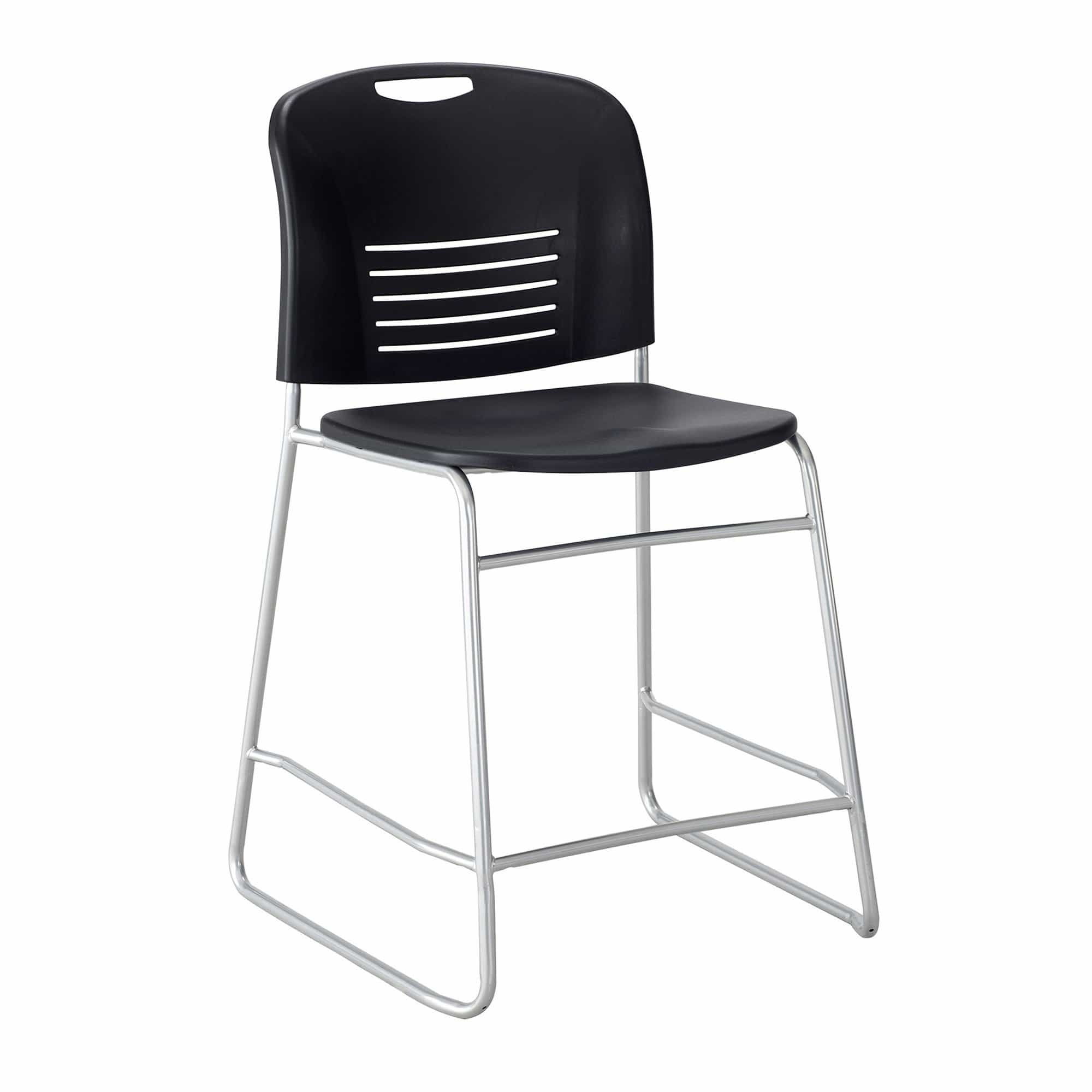 bedinhome - Safco Vy Plastic seat & back Steel powder coat frame counter-height Chair - Safco - Extended/Counter Hght Seating
