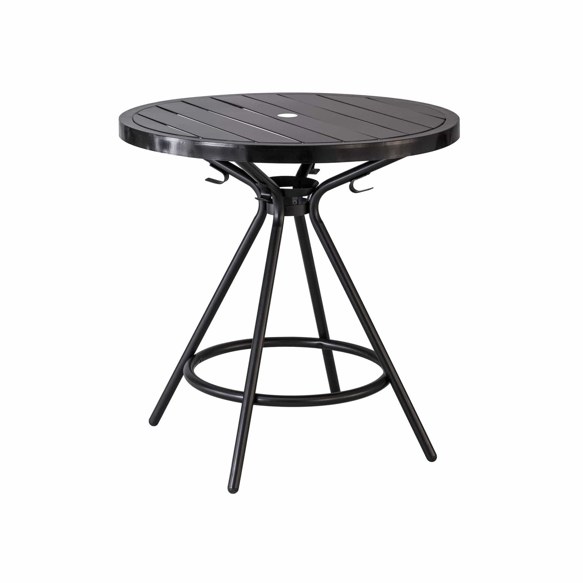 bedinhome - 4361BL CoGo™ Outdoor/Indoor Weather Resistant 30 Inch Round Shape Black Steel Table With Hangup Hook - Safco - Outdoor/Indoor Table