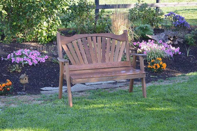 Outdoor Garden Furniture Fanback Garden Bench Made In USA