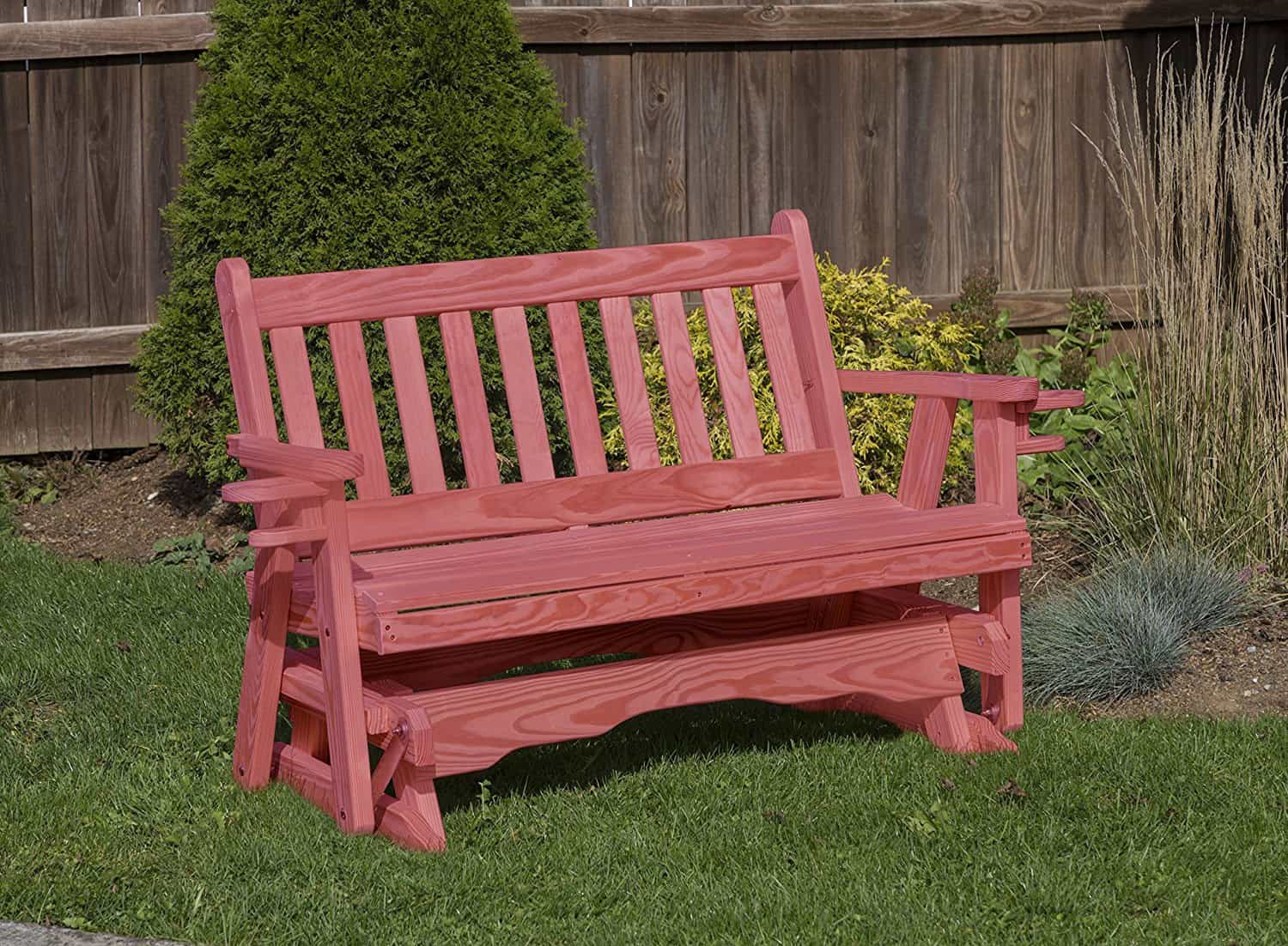 Outdoor Furniture Amish Mission Pressure Treated kilndried Pine GLIDER