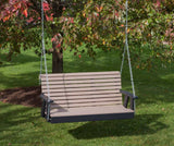 Outdoor POLY LUMBER ROLL BACK PolyTuf HDPE AMISH CRAFTED Swing USA