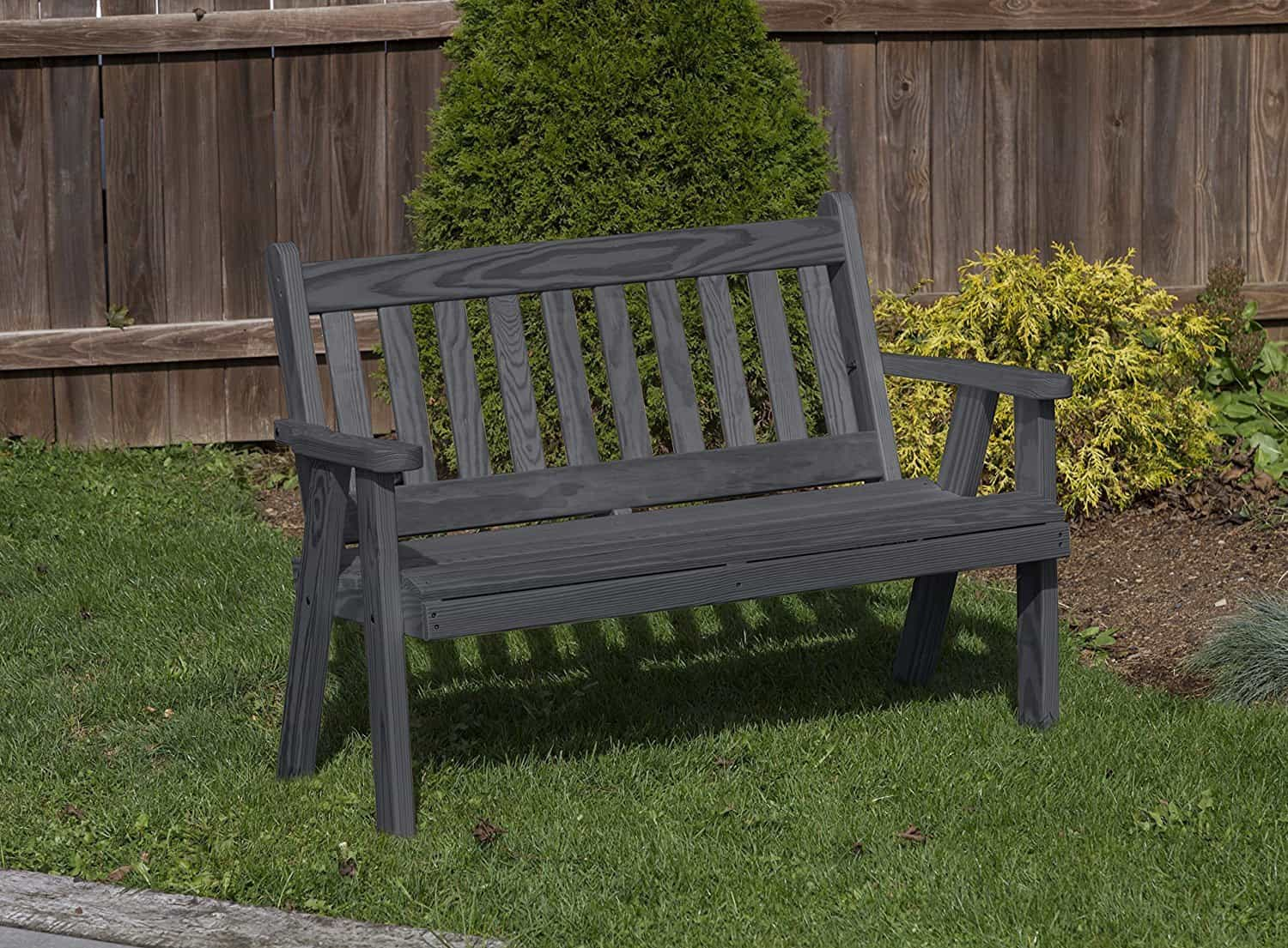 Outdoor Furniture Amish Mission Pressure Treated kiln-dried pine Bench