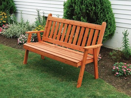 Outdoor Garden Furniture Traditional English Garden Bench Made In USA