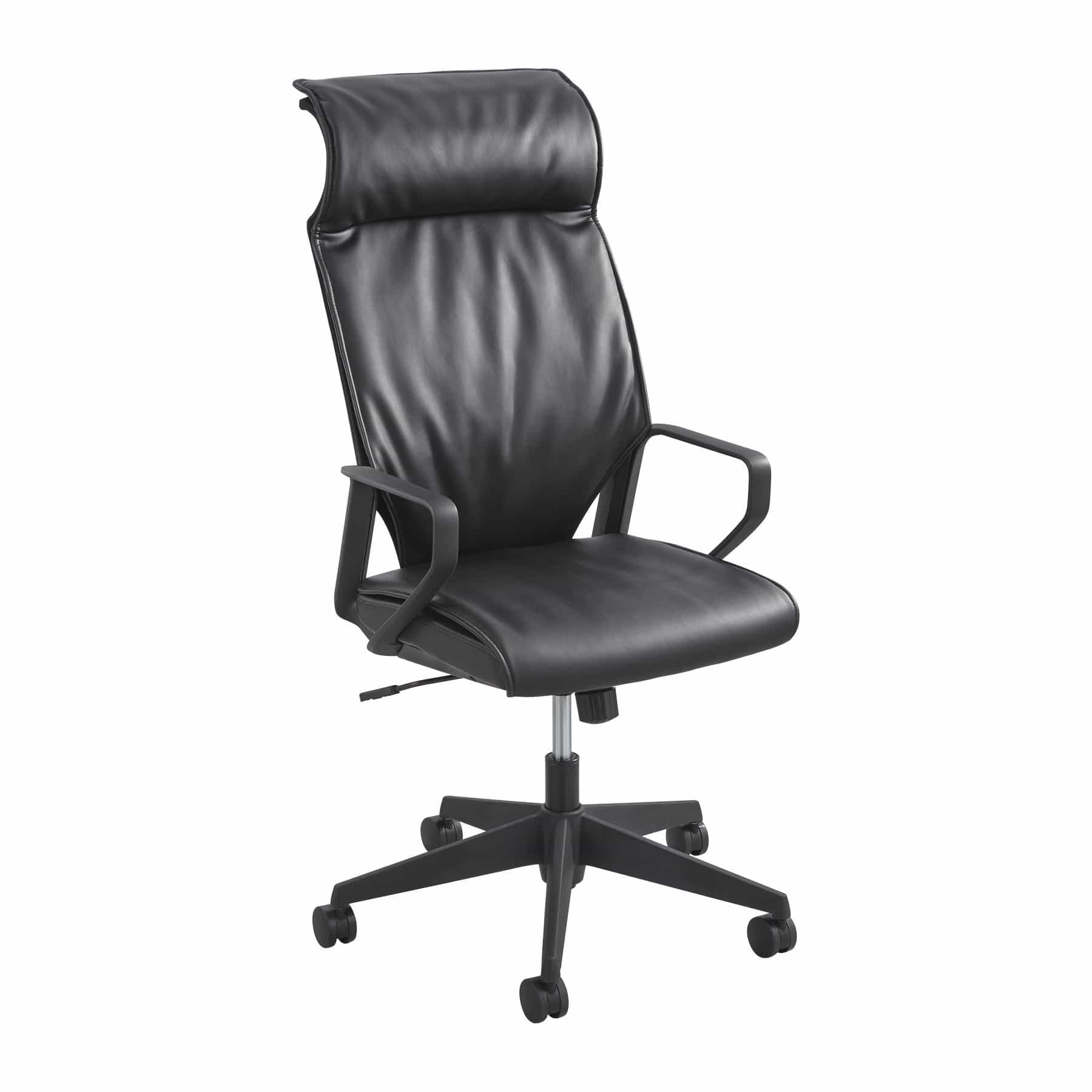 bedinhome - 5075BL Office Furniture Black Priya Leather seat & High Back Executive Chair - Safco - Executive Seating