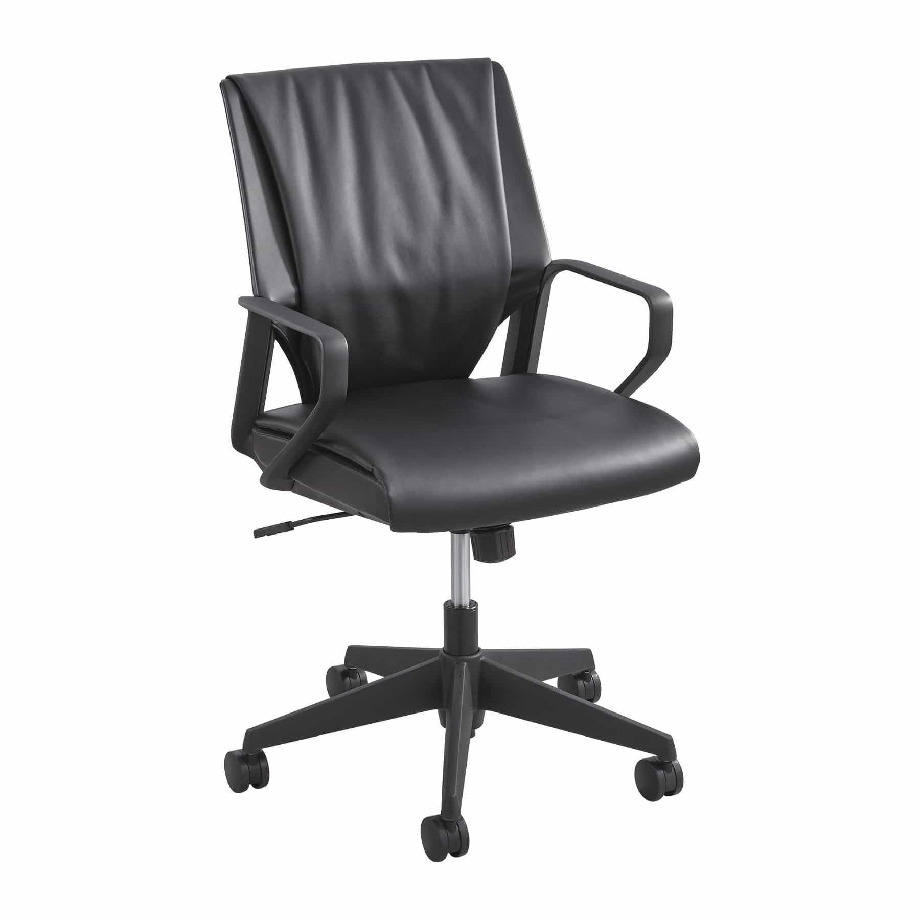 bedinhome - 5076BL Office Furniture Priya Leather seat & Mid Back nylon loop arms Executive Chair - Safco - Executive Seating