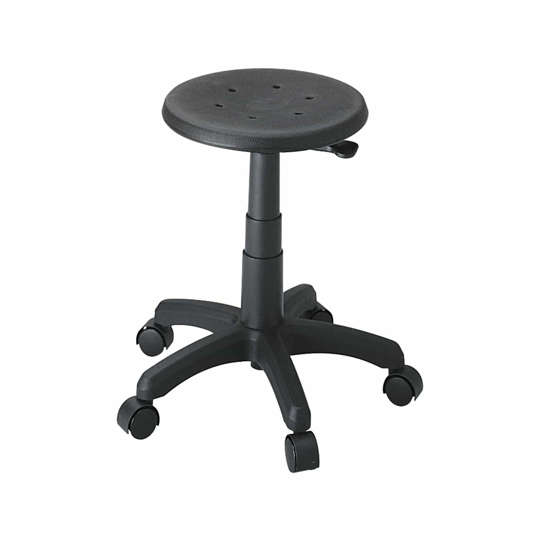 bedinhome - Industrial Seating 250 lbs Weight Capacity Black Polyurethane Office Stool - Safco - Office Stool