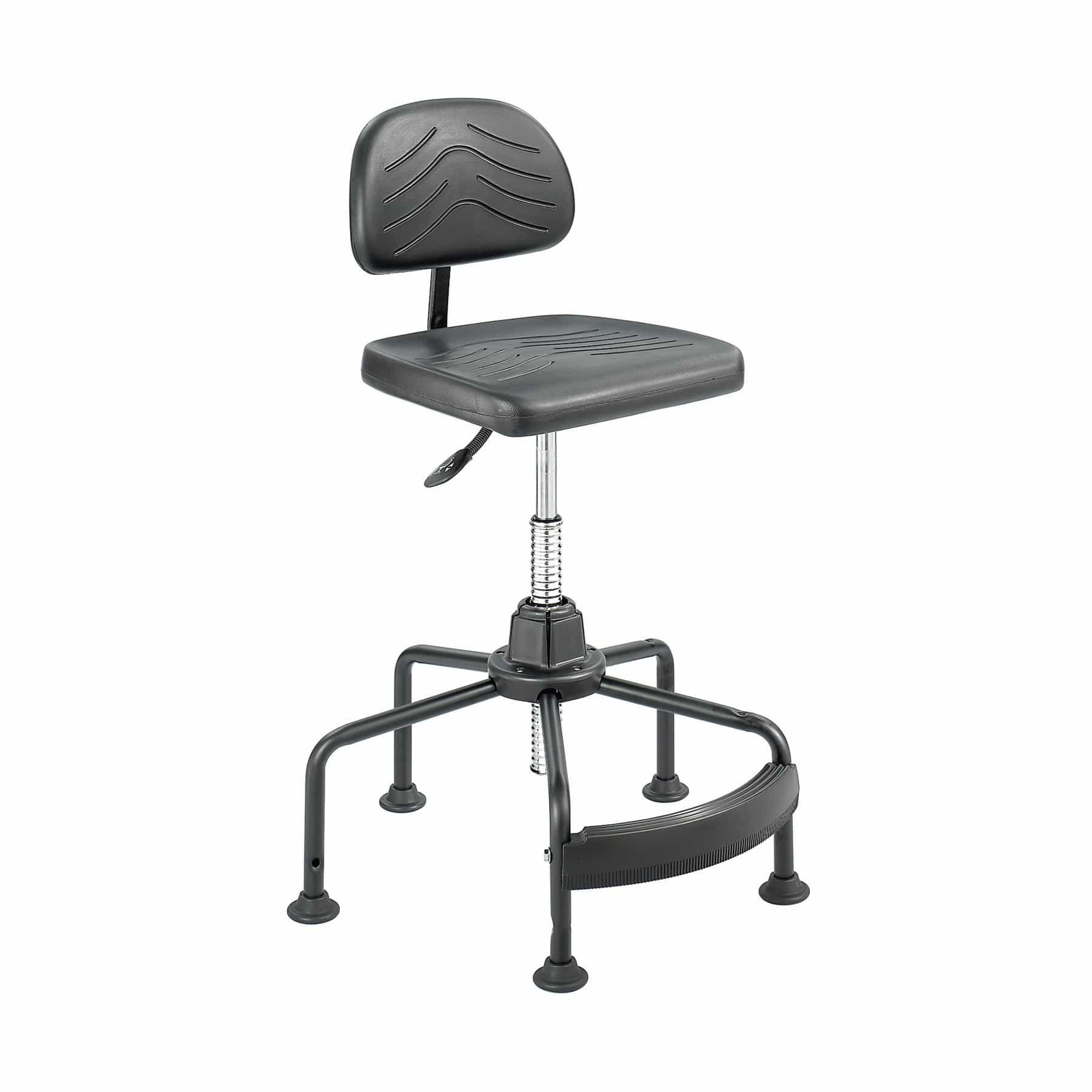 bedinhome - Industrial Seating Black Polyurethane Task Master Economy Industrial Chair - Safco - Economy Industrial Chair