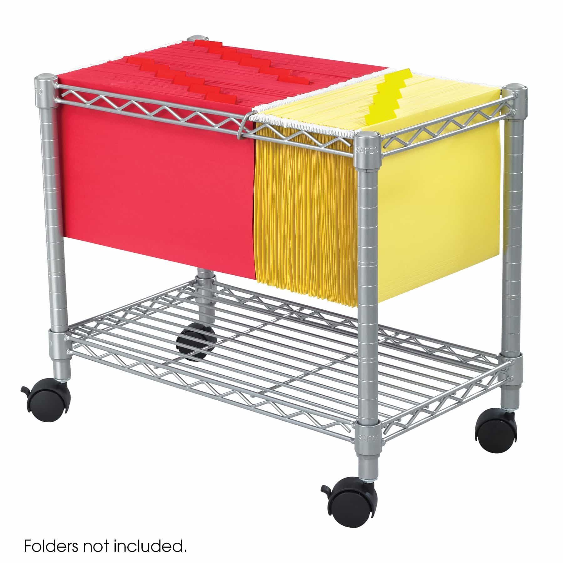bedinhome - Steel Wire letter & legal-size hanging folders Mobile File file storage cart - Safco - Wire Filing Carts