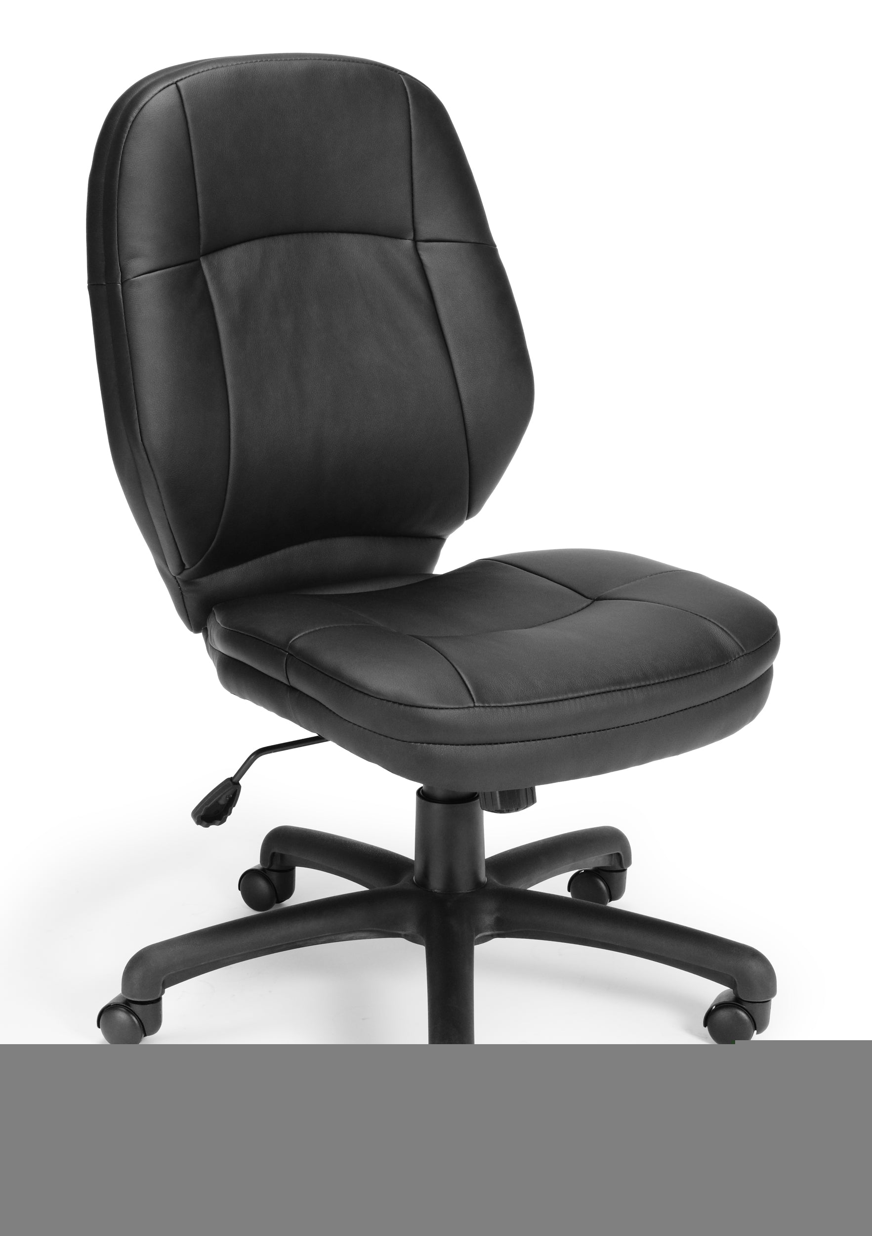 521-LX Stimulus Series Leatherette Executive Mid-Back Armless Chair