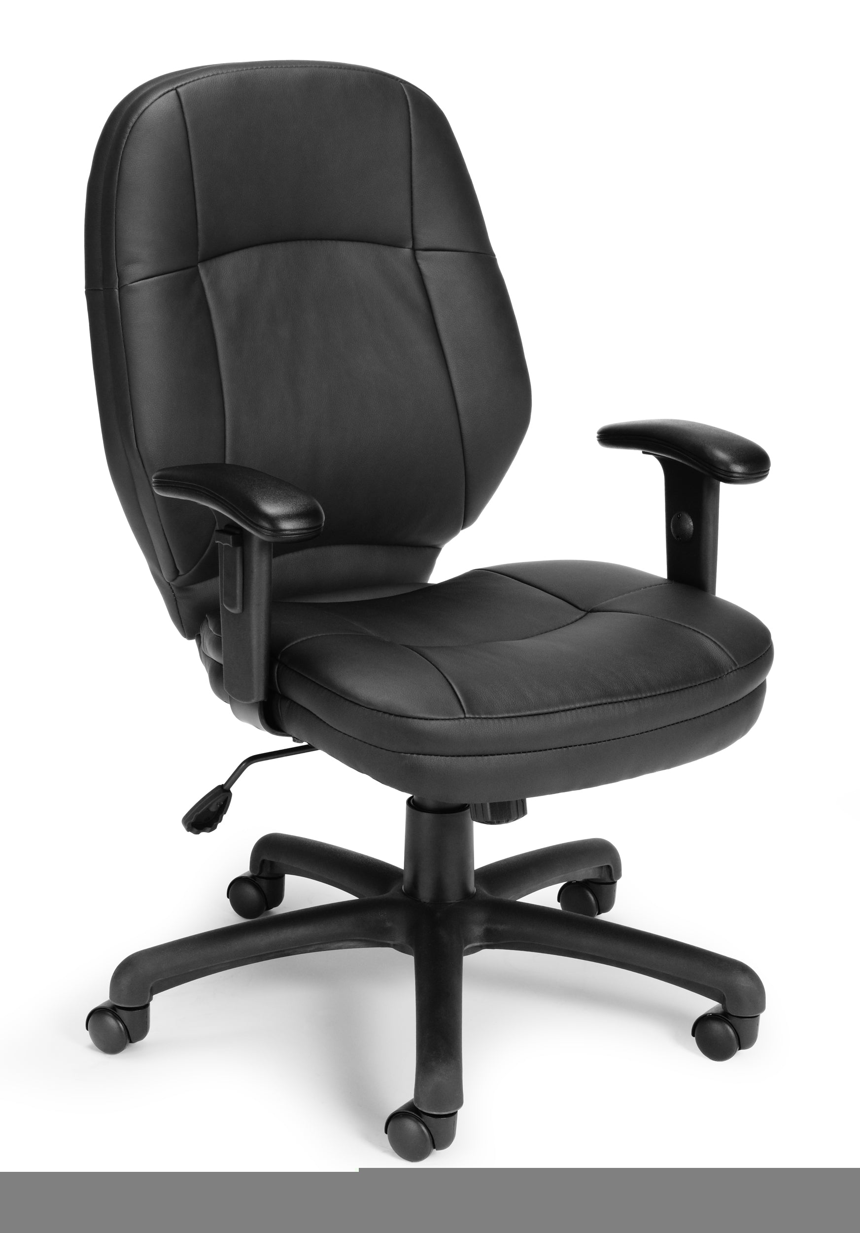 Stimulus Series Ergonomic Leather Task Chair with Adjustable Arms