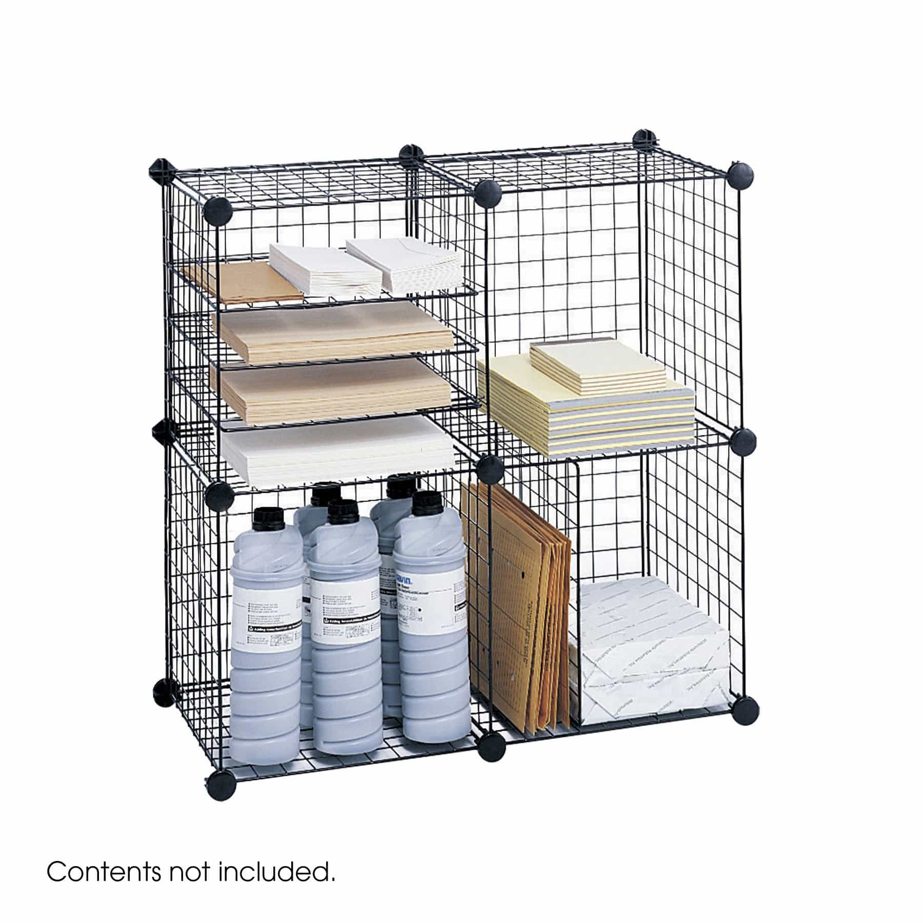 bedinhome - 5279BL Safco Black Desk organization Welded open wire construction Cubes - Safco - Economy Organizers