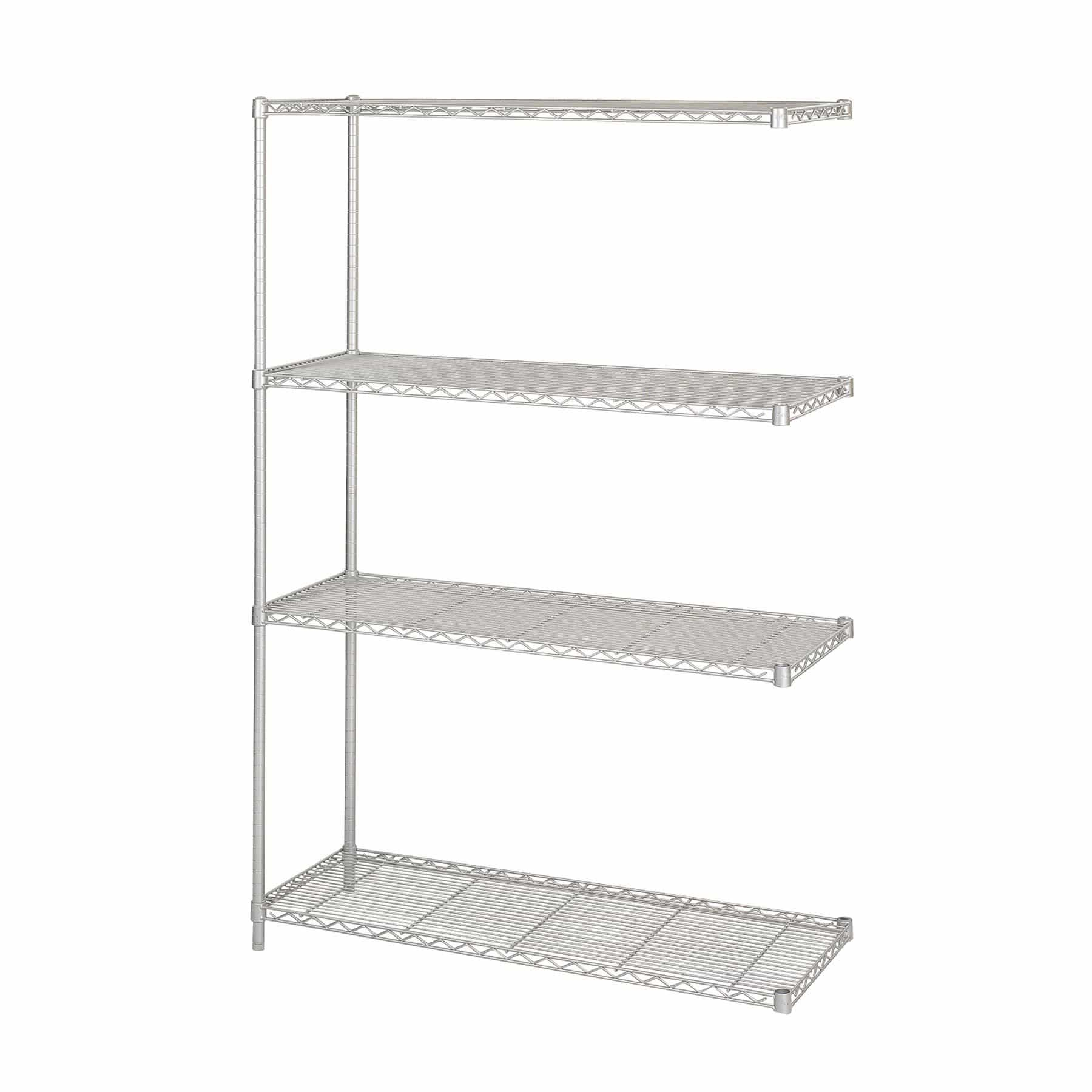 bedinhome - Safco Industrial 48 In x 18 In Add-On Unit welded wire Shelving storage shelf - Safco - Wire Shelving