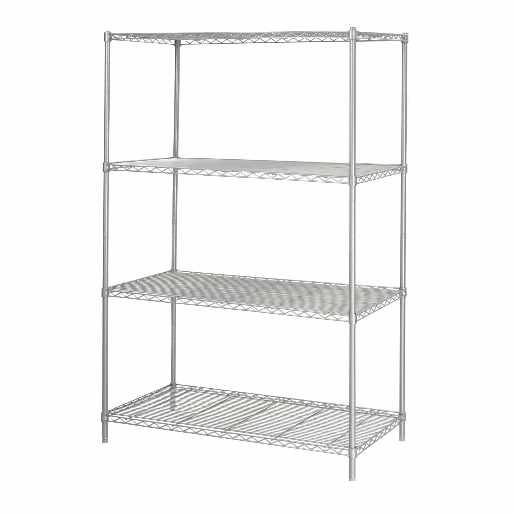 bedinhome - Industrial 48 In x 24 In powder coat finish welded wire Shelving storage shelf - Safco - Wire Shelving