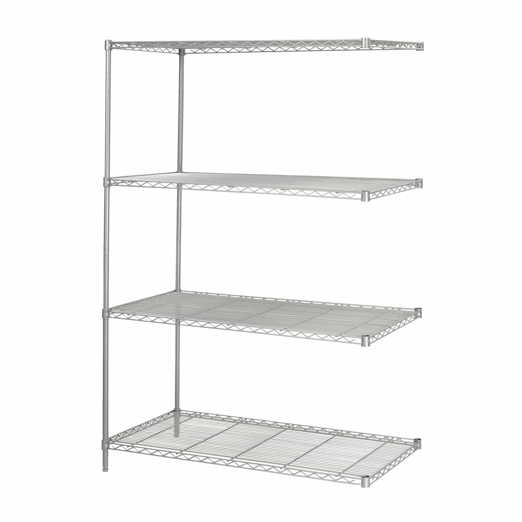 bedinhome - Safco Industrial 48 In x 24 In Add-On Kit welded wire Shelving storage shelf - Safco - Wire Shelving