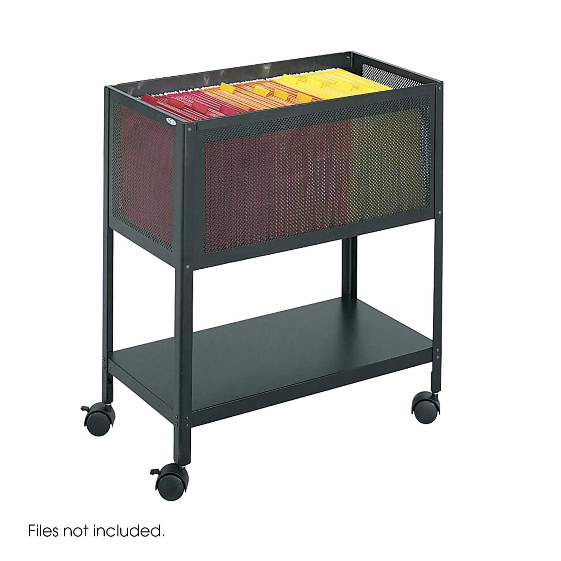 bedinhome - 5350BL Safco steel-mesh designed cart Open Top Tub four wheels Casters Files - Safco - Steel Filing Carts