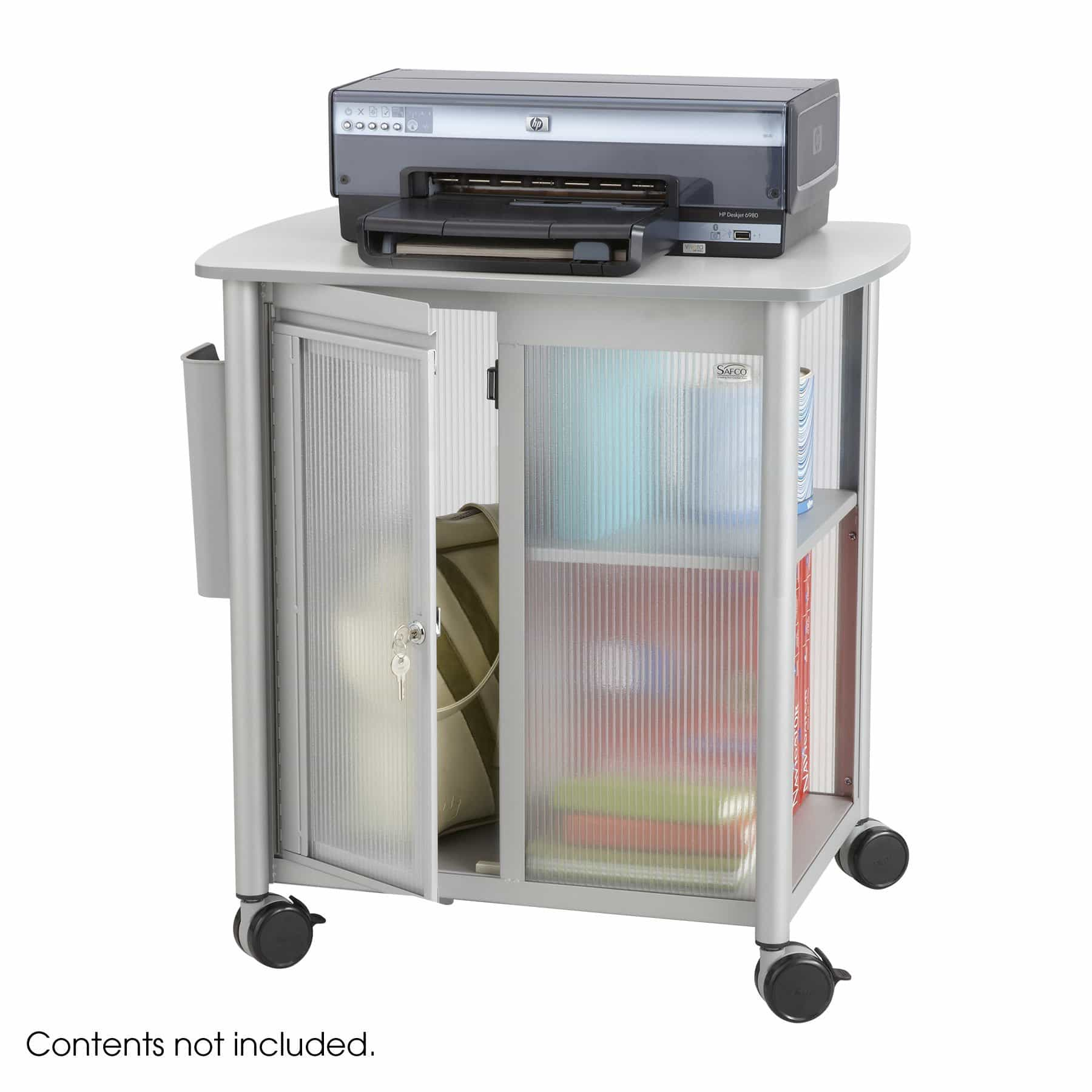 bedinhome - Safco Impromptu Personal Mobile polycarbonate panels Cart Storage Center - Safco - Steel Filing Carts