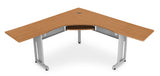 "Ofminc Model 55177 L-Shaped Workstation 72"" x 72"" with 24"" D Top"