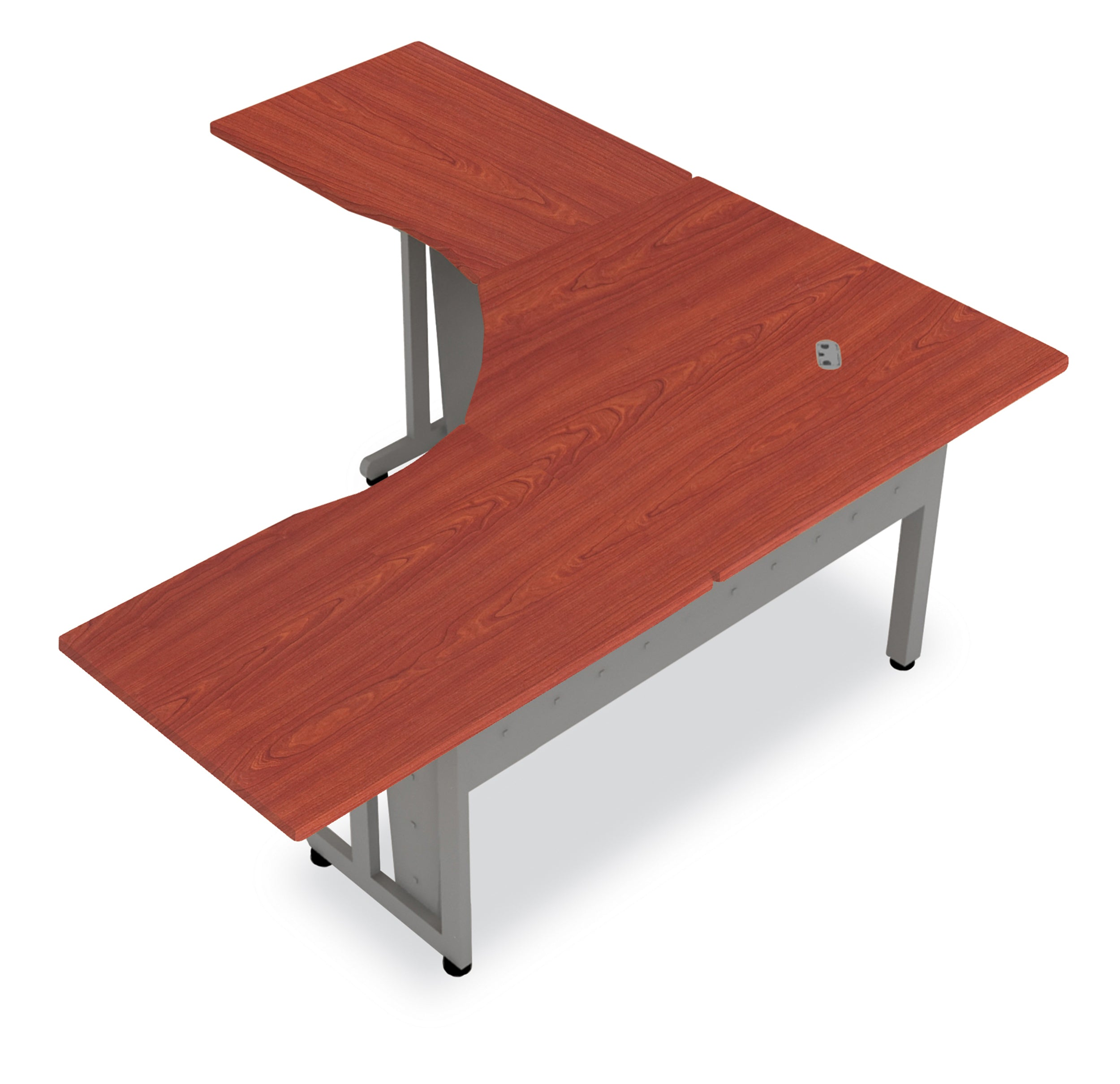 "Model 55224 72"" L-Shaped Freestanding Steel Workstation Table / Desk"