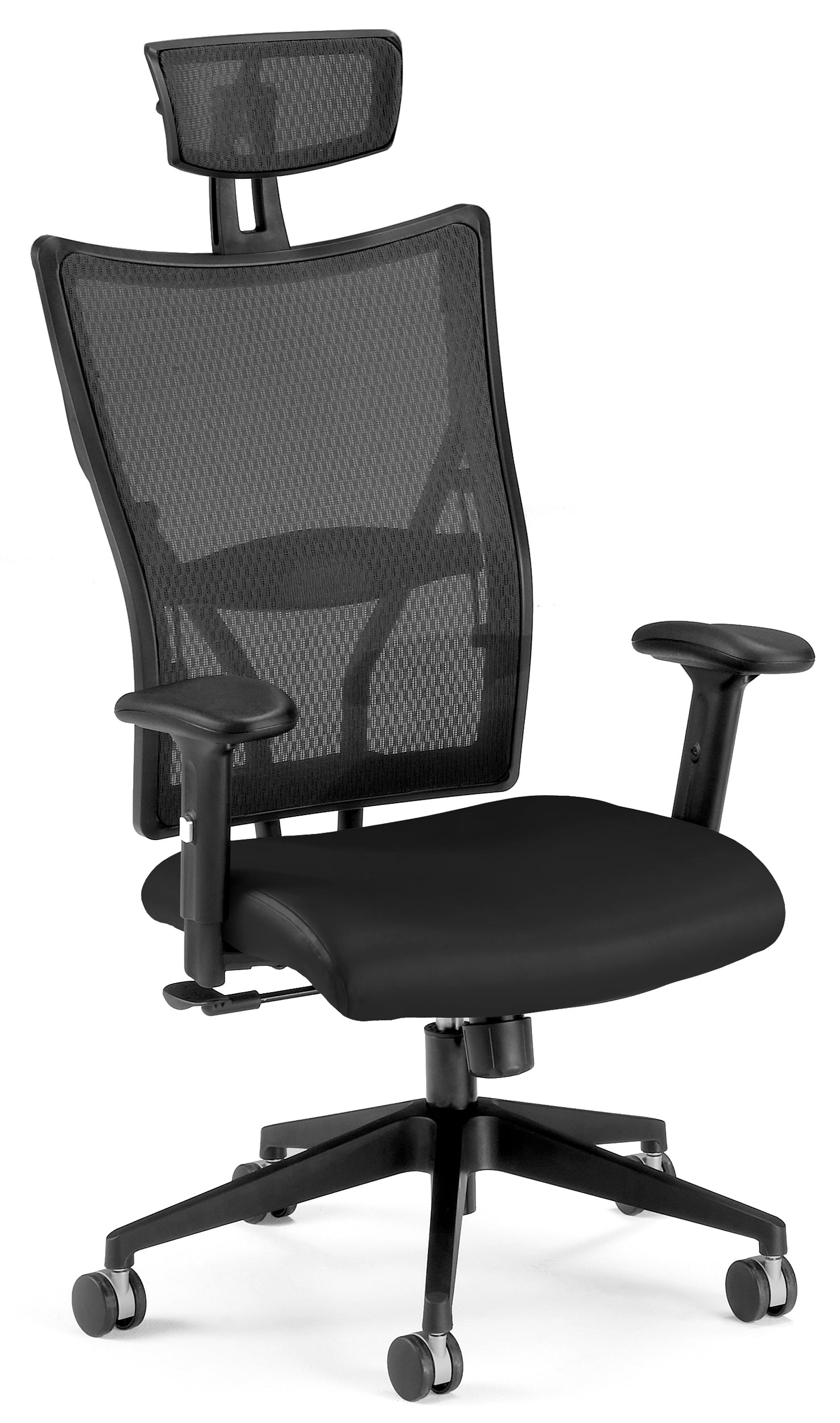 590-L Talisto Series High-Back Leather / Mesh Office Headrest Chair