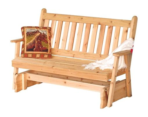 Outdoor Garden Furniture Traditional English Glider Made In USA