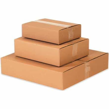 bedinhome - Shipping Apparel Storage Space Printed Materials Kraft Flat Corrugated Cardboard Packaging Boxes- 20 Each Per Bundle - UNBRANDED - Corrugated Boxes