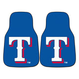 "MLB - Texas Rangers 2-pc Carpet Car Mat Set 17""x27"""
