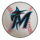 "MLB - Miami Marlins Baseball Mat 27"" diameter"