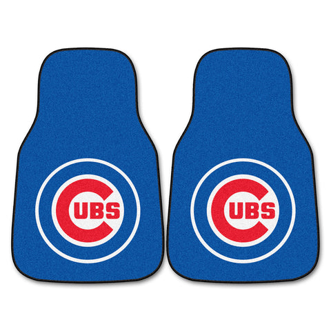 "MLB - Chicago Cubs 2-pc Carpet Car Mat Set 17""x27"""
