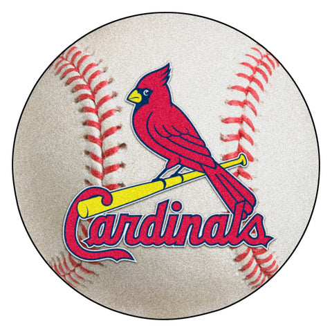"MLB - St. Louis Cardinals Baseball Mat 27"" diameter"