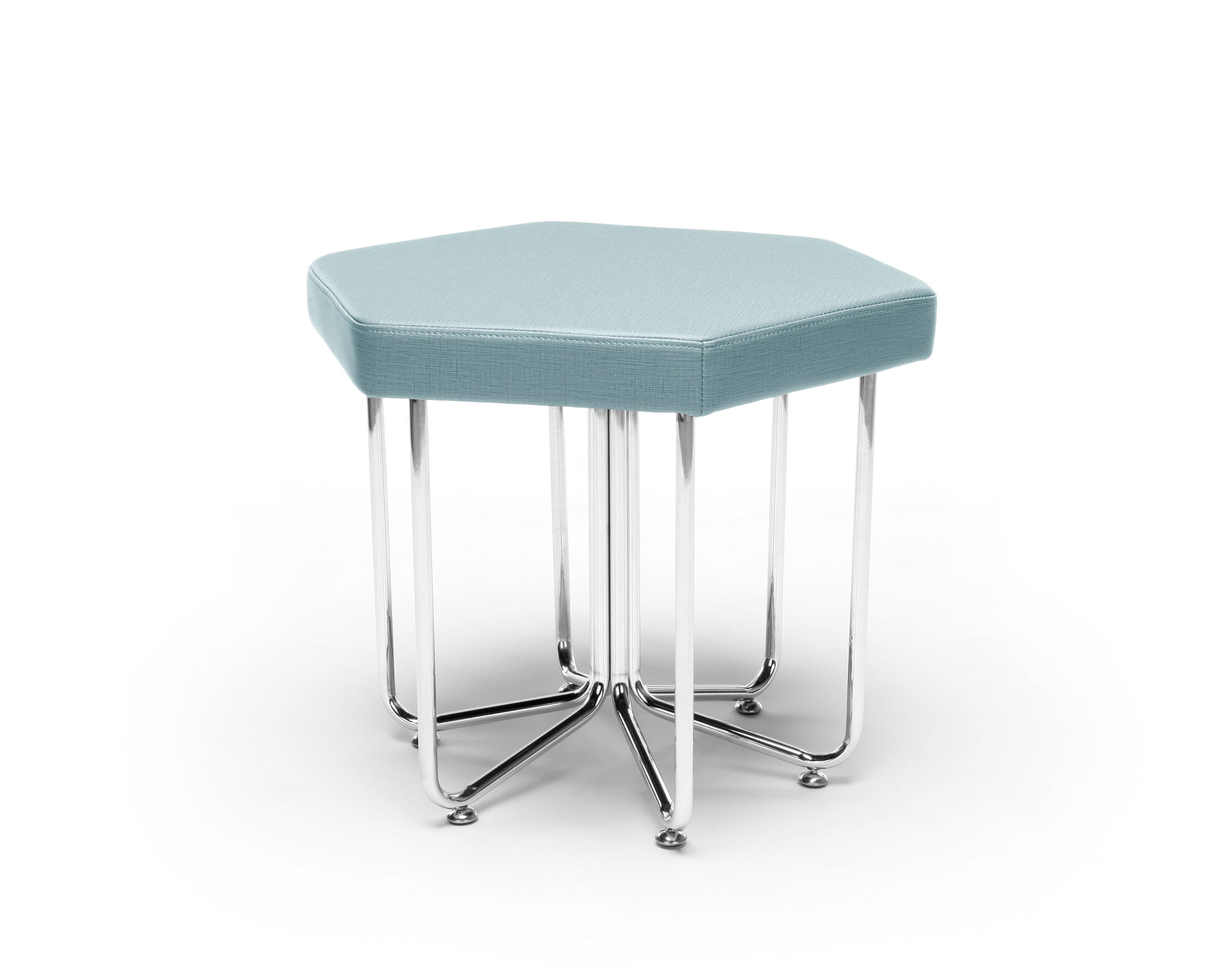 Ofminc Model 66 Hex Series Chrome Frame Stool