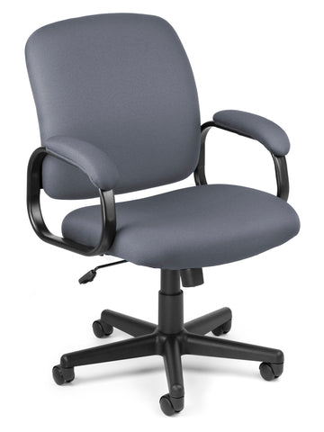Ofminc Model 660 Value Series Fabric Low-Back Task Arms Chair