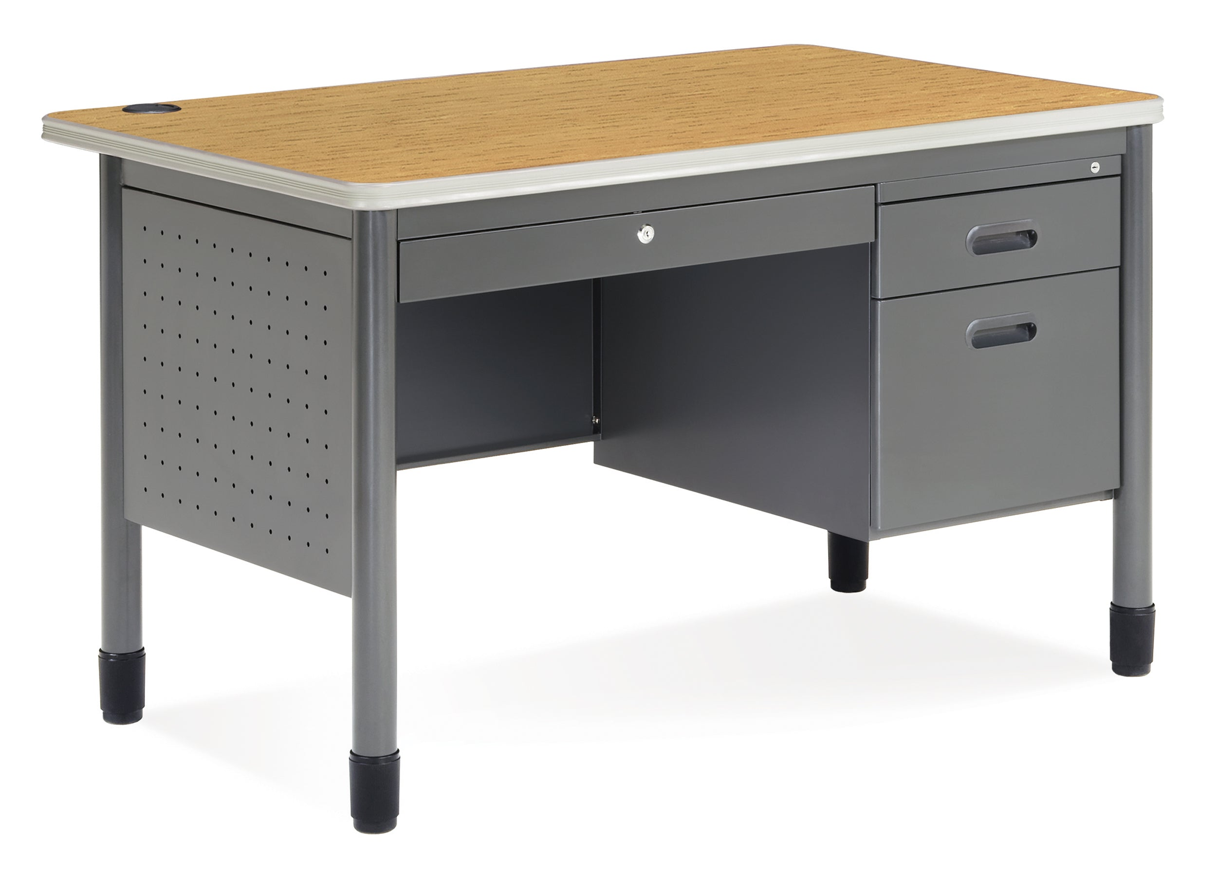 Ofminc Model 66348 Single Pedestal Teacher Desk