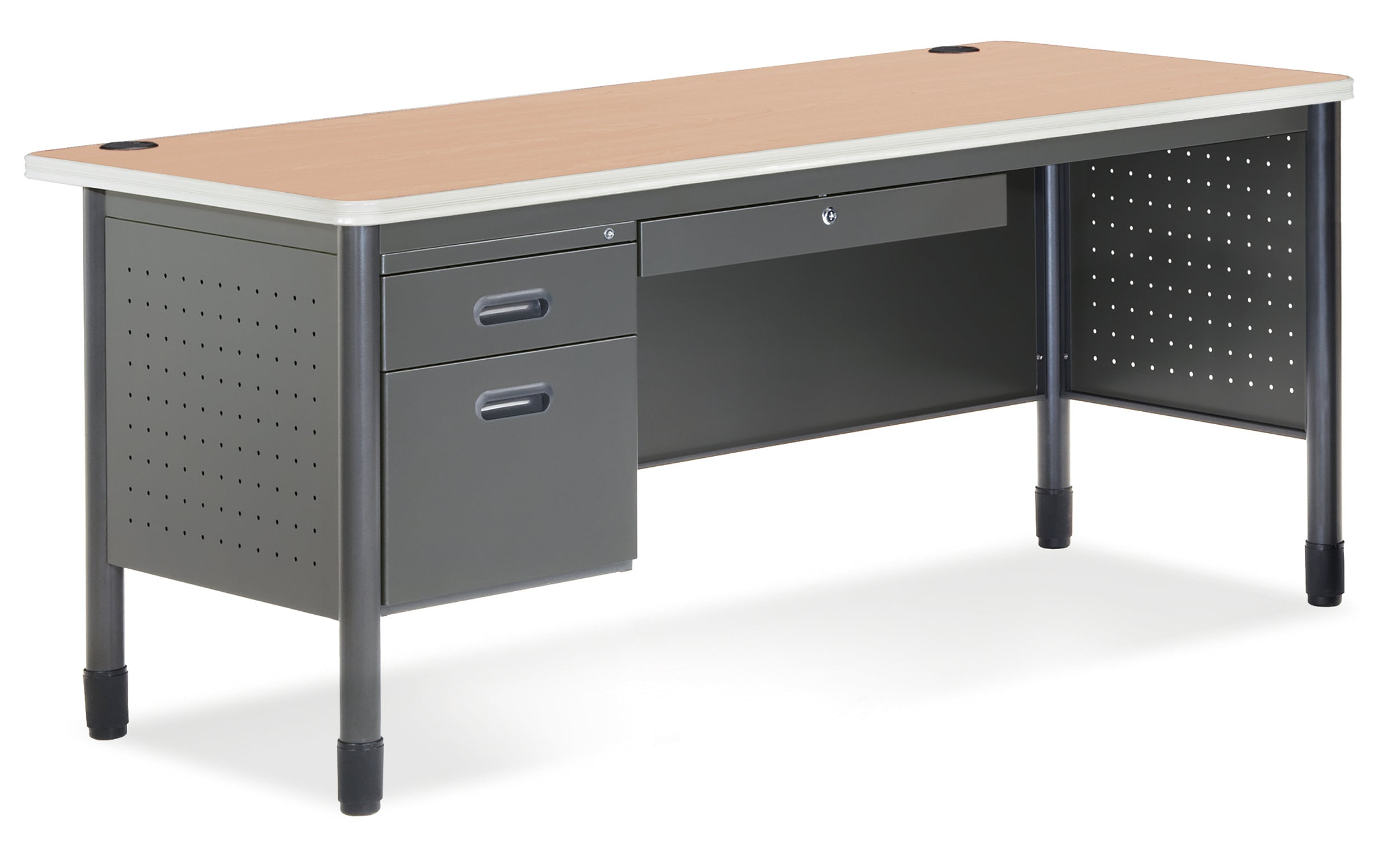 Ofminc Model 66366 Mesa Series Single Pedestal Desk