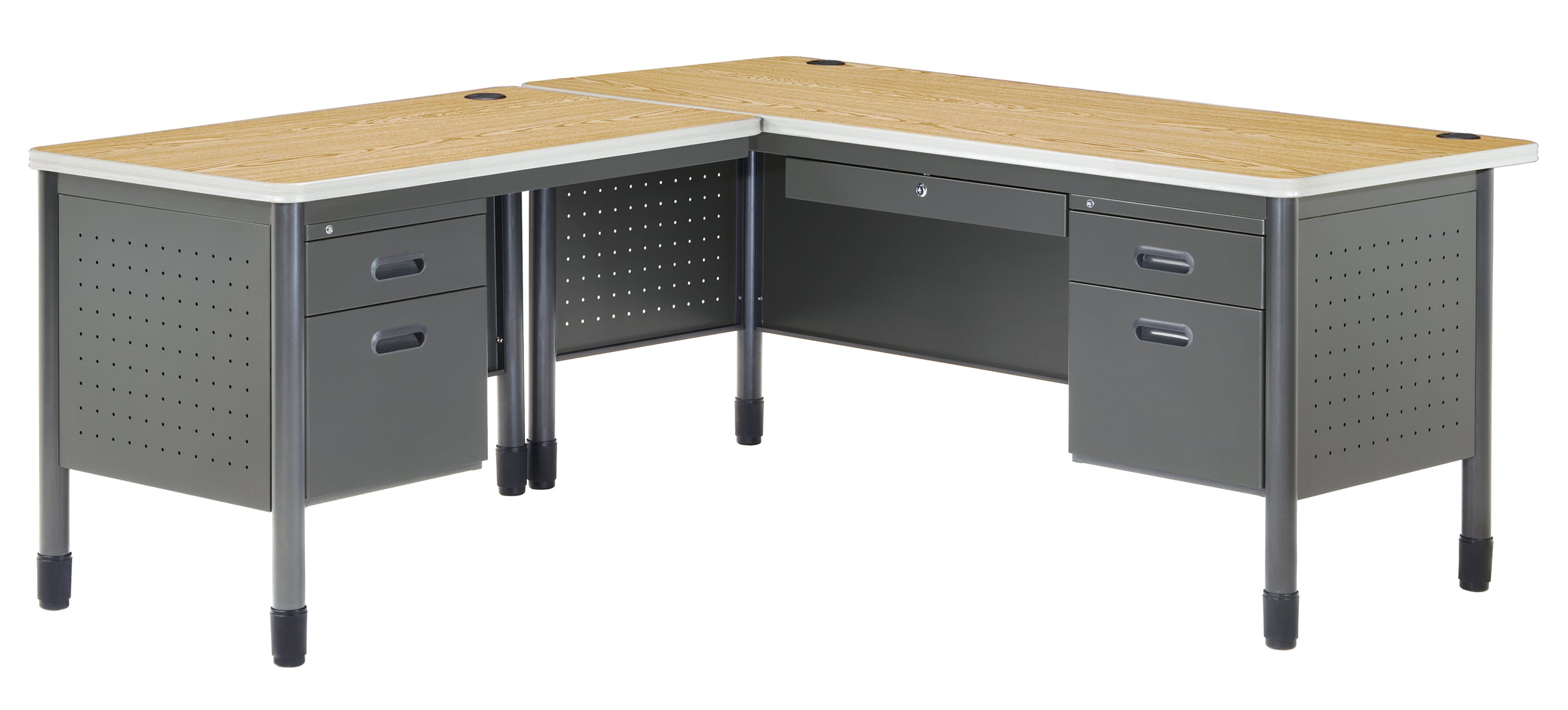 Ofminc Model 66366L Mesa L-Shaped Desk with Left Return