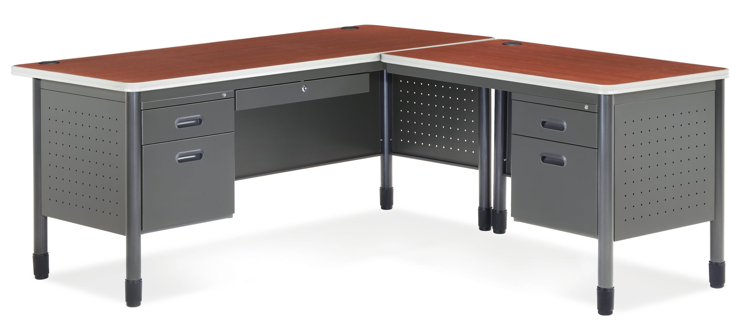 Ofminc Model 66366R Mesa R-Shaped Desk with Right Return