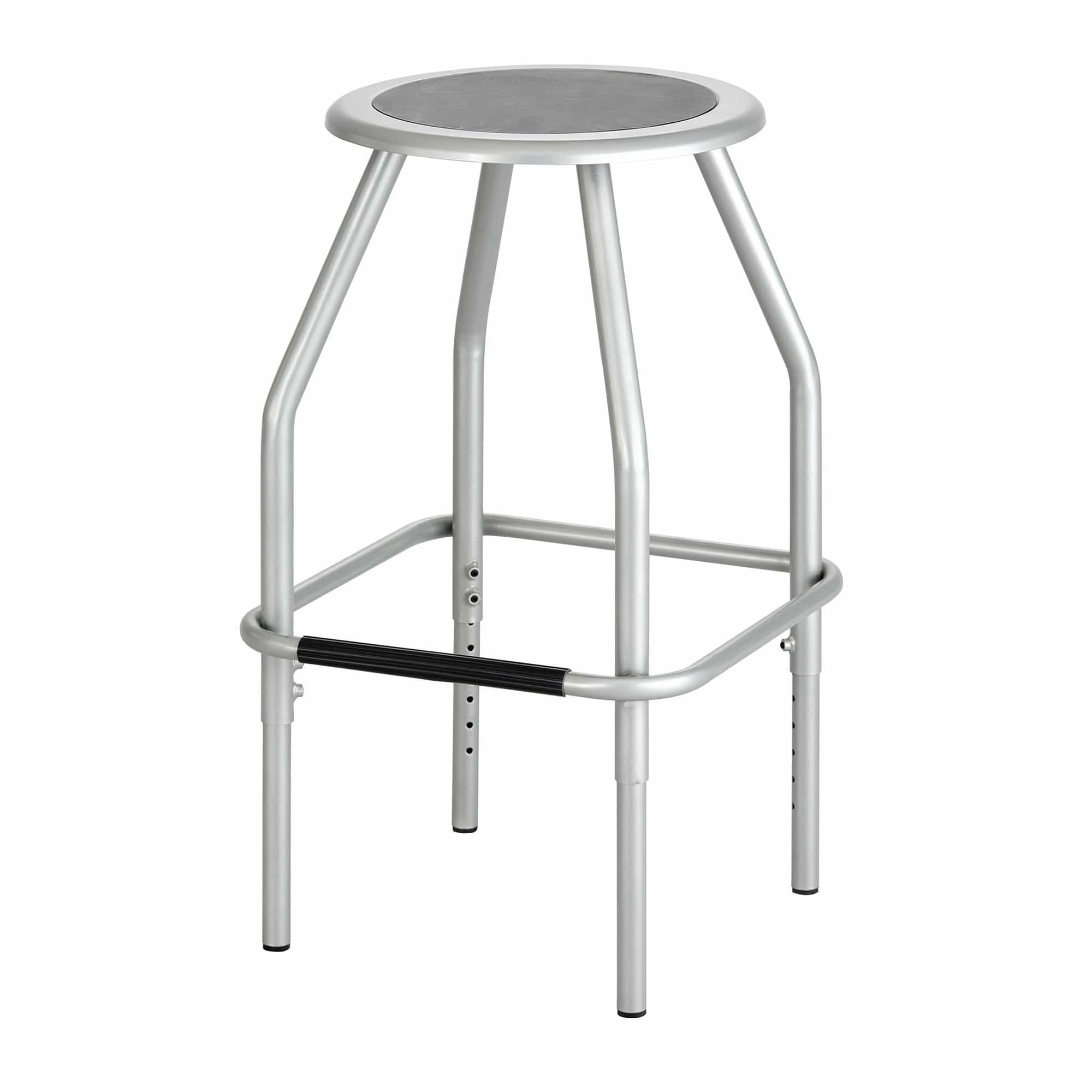 bedinhome - Industrial Seating 250 lbs Weight Diesel Adjustable Height Silver Stool - Safco - Seat Stool