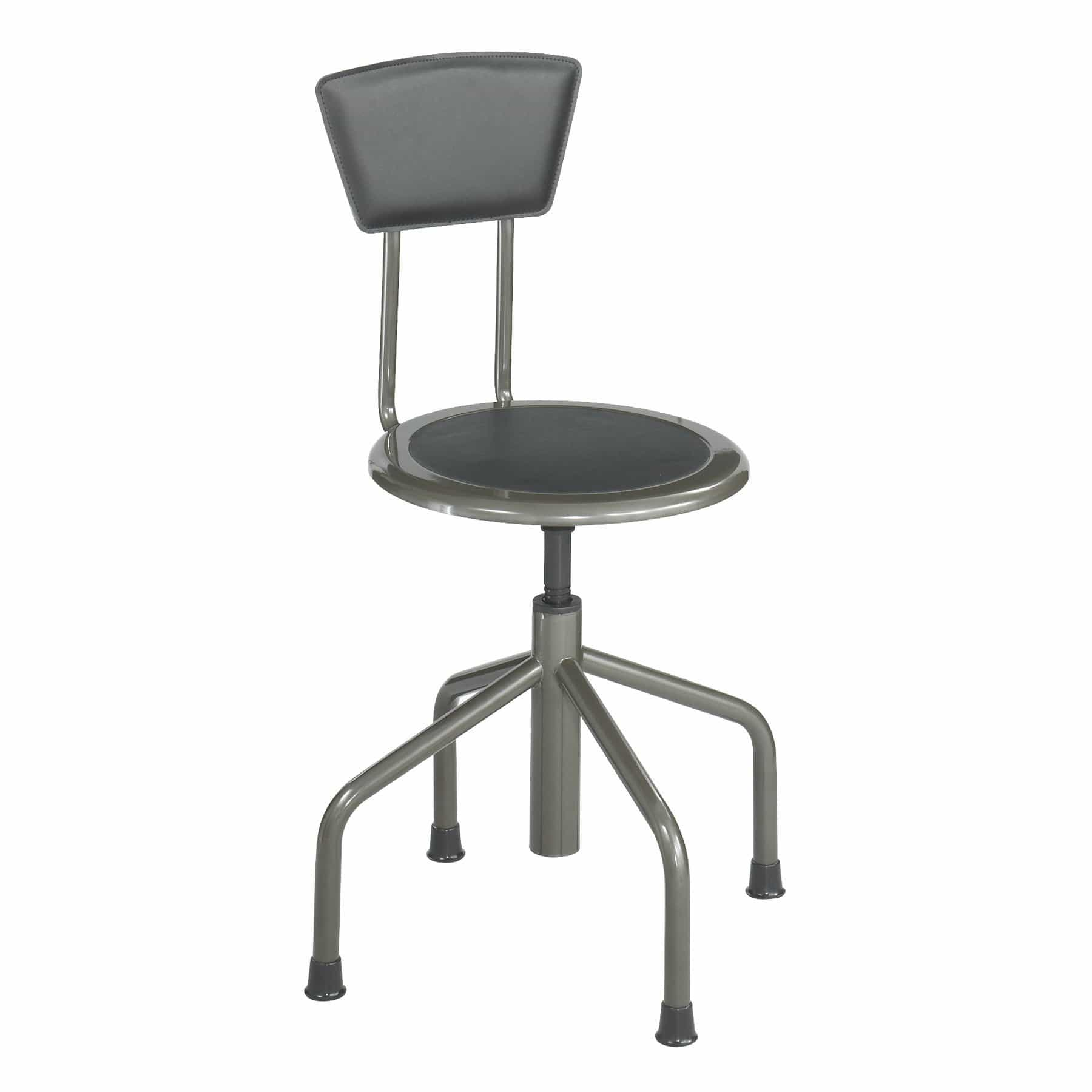 bedinhome - Industrial Seating Diesel Low Base Stool with Recycled Leather Padded Seat Back - Safco - Low Base Stool