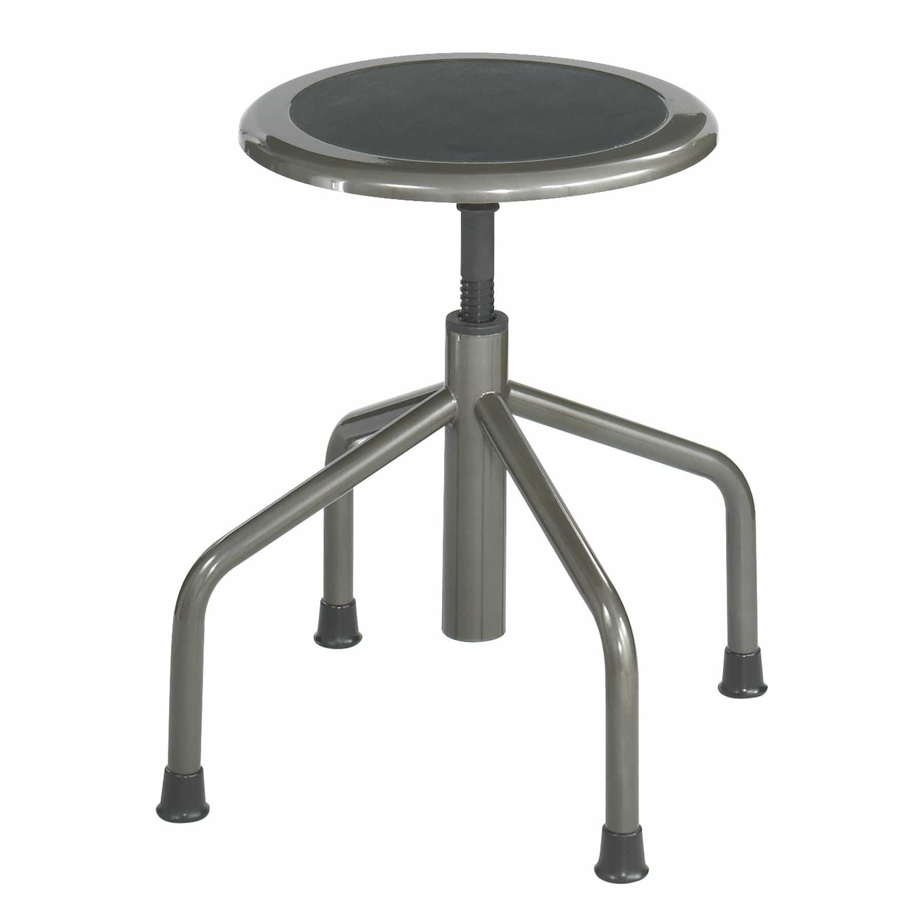 bedinhome - Industrial Seating Diesel Pewter Low Base Steel frame Stool Without Back - Safco - Low Base Stool