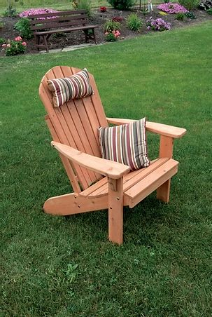 Outdoor Garden Furniture Fanback Adirondack Chair Made In USA