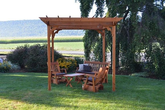 Outdoor Garden Furniture Pergola With Swing Hangers Made In USA