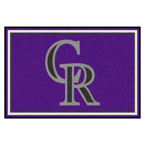 "MLB - Colorado Rockies 5x8 Rug 59.5""x88"""