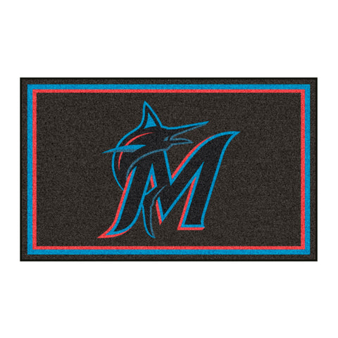 "MLB - Miami Marlins 4x6 Rug 44""x71"""
