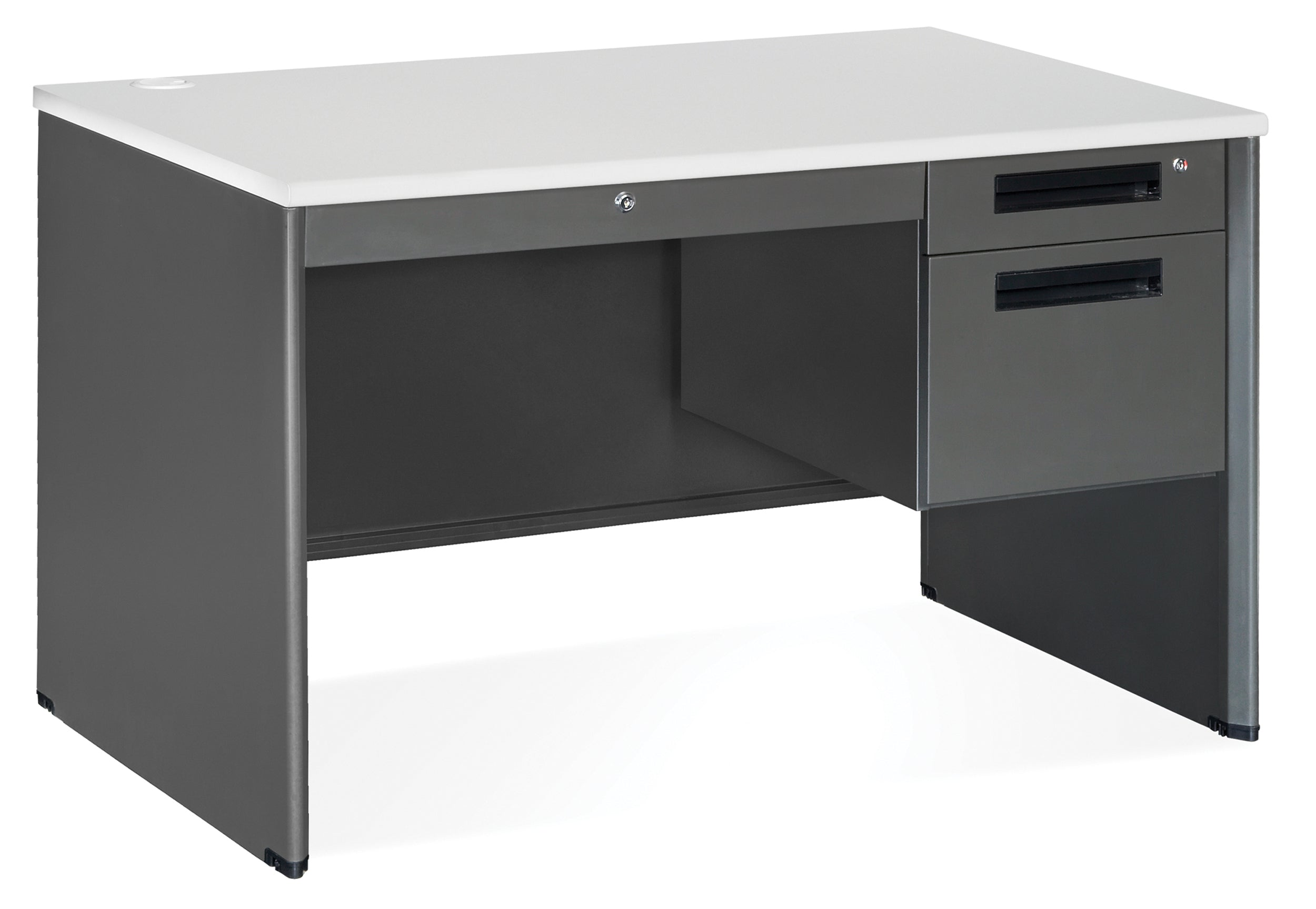 "Model 77348 Executive Series 3-Drawer Single Pedestal Desk, 30"" x 48"""