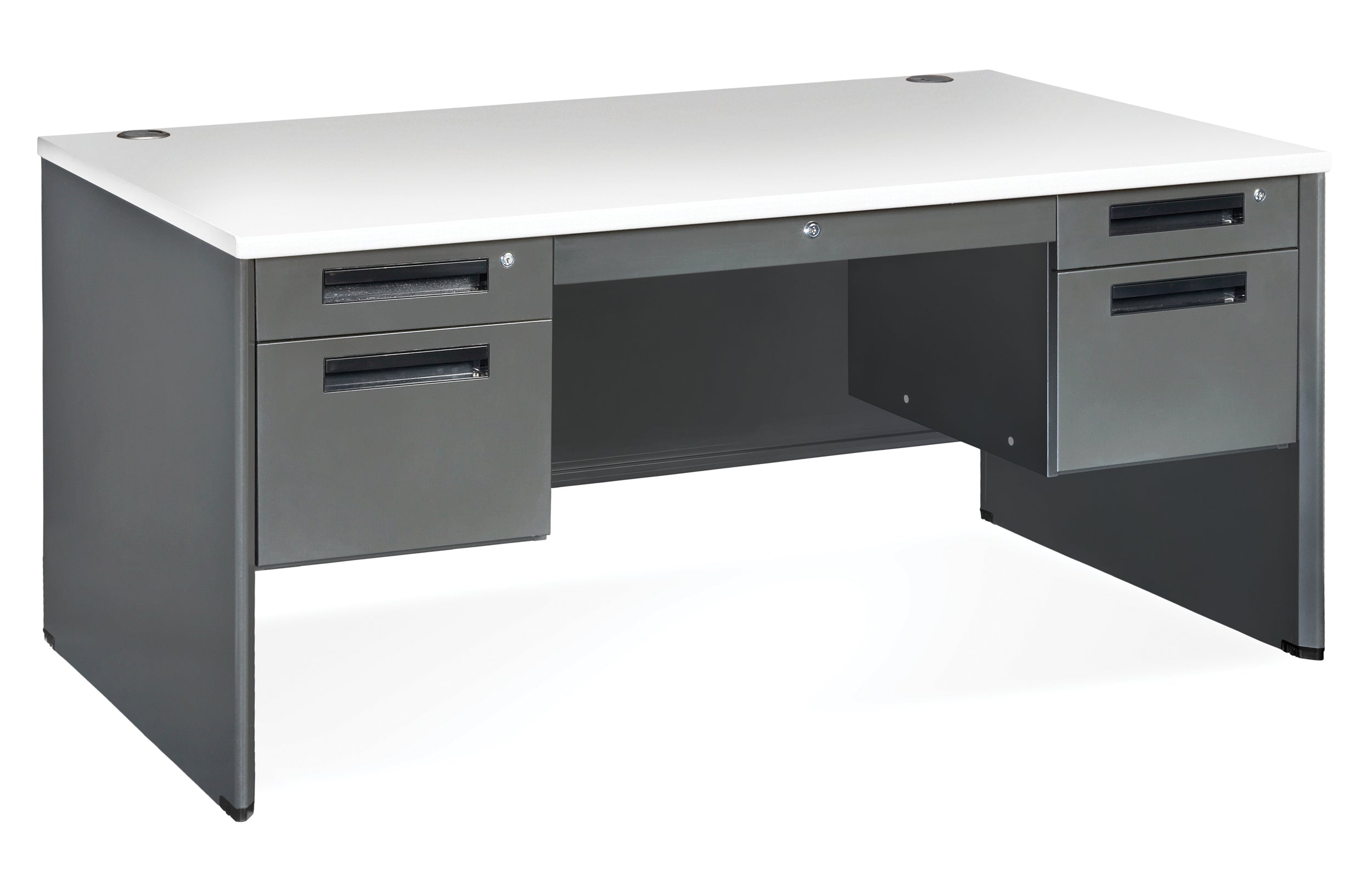 "Model 77360 Executive Series 5-Drawer Double Pedestal Desk, 30"" x 60"""