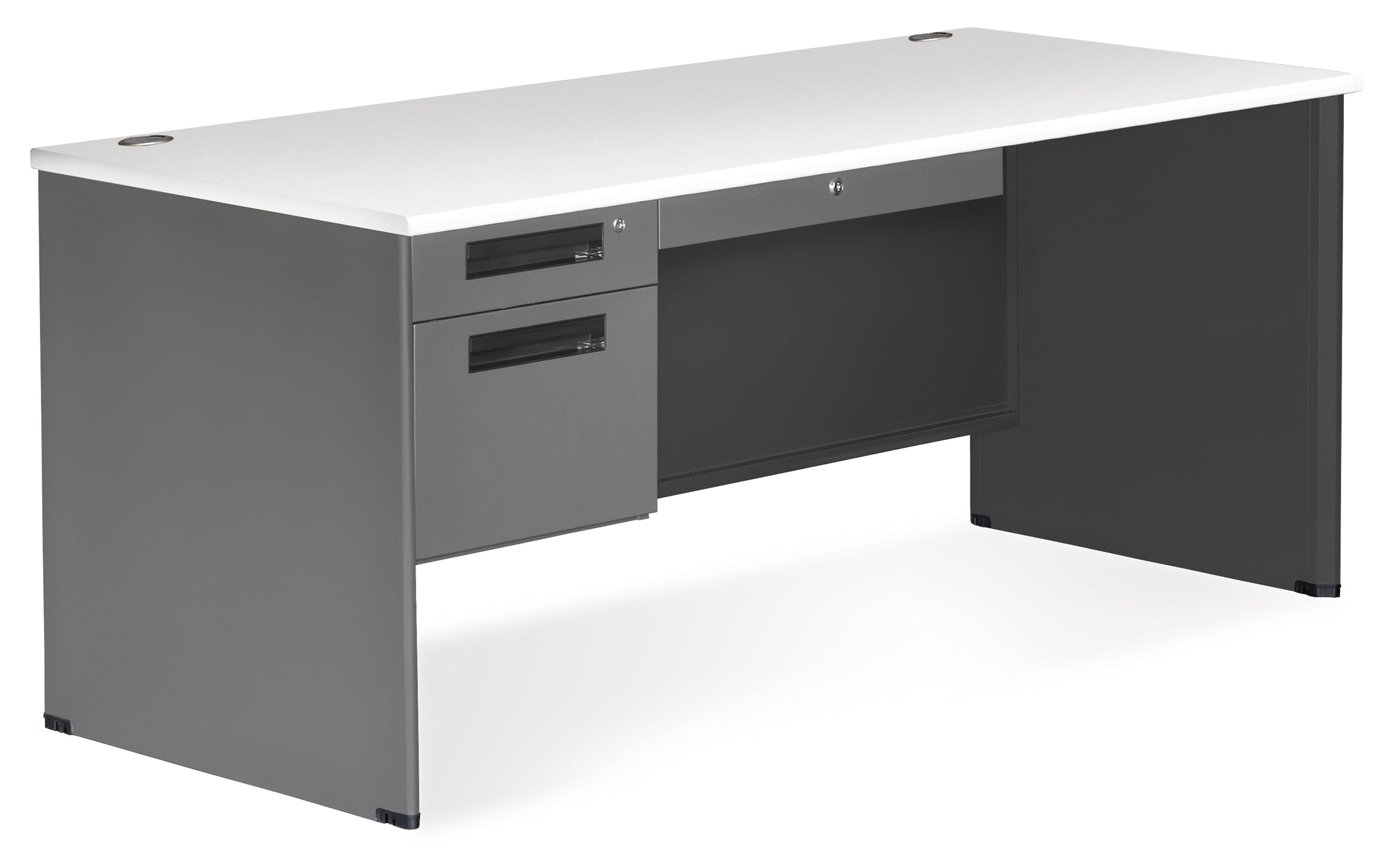"Model 77366 Executive Series 3-Drawer Single Pedestal Desk, 30"" x 67"""