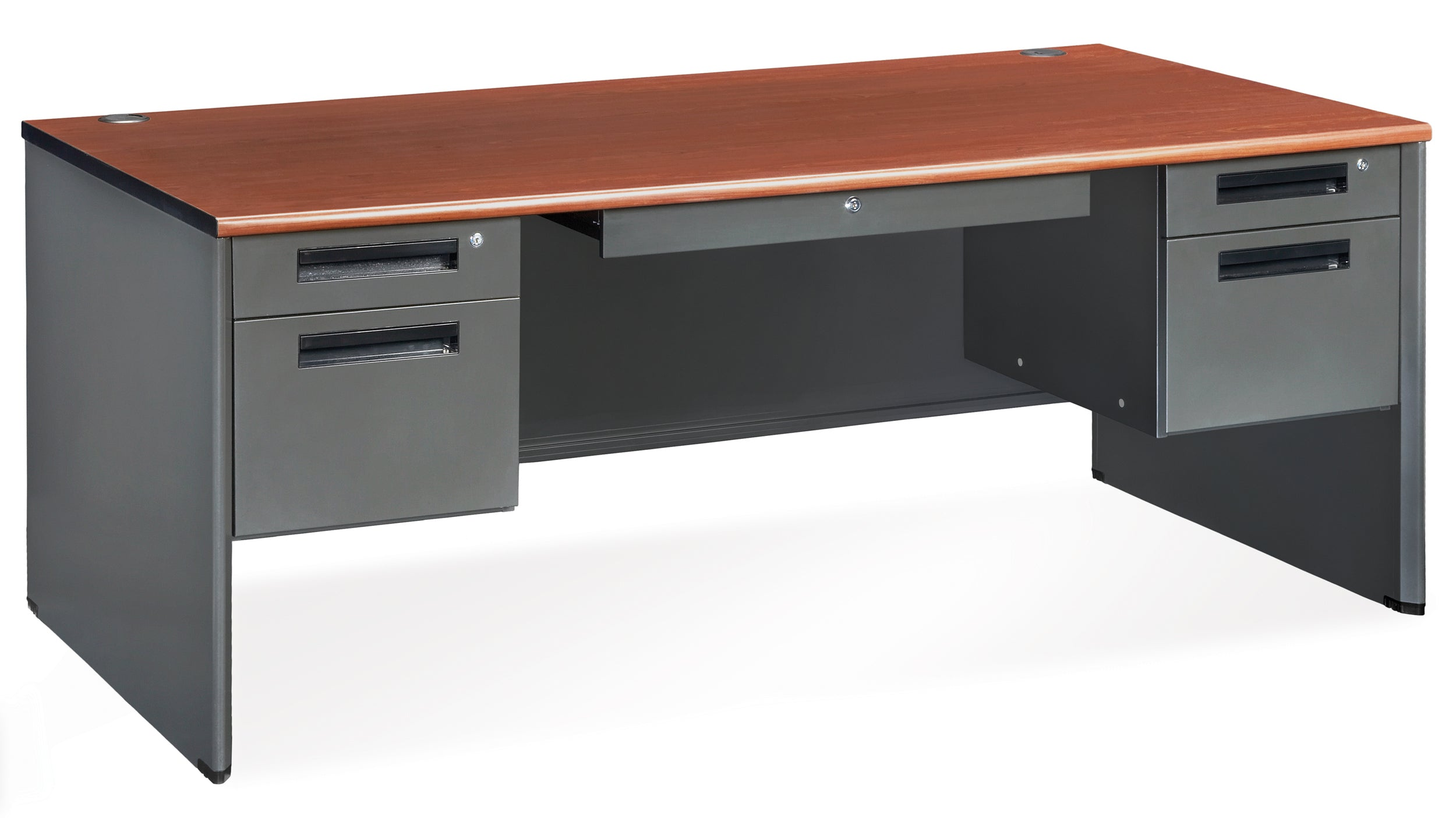 "Model 77372 Executive Series 5-Drawer Double Pedestal Desk, 30"" x 72"""