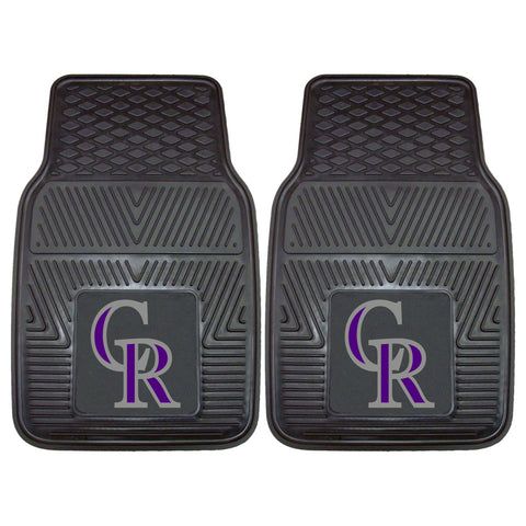 "MLB - Colorado Rockies 2-pc Vinyl Car Mat Set 17""x27"""
